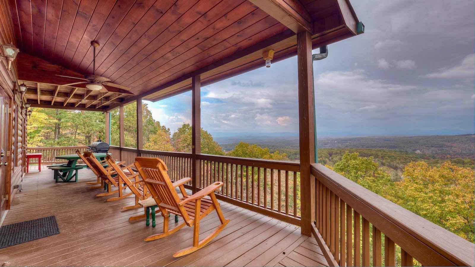 in owner the cabin toccoa rentals by water waterfront on with blue river ridge pool ga cabins georgia indoor