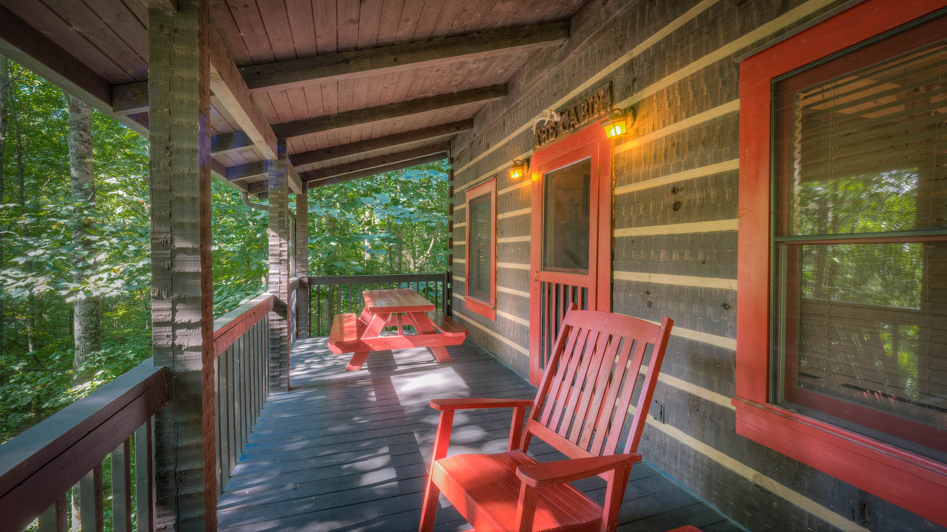 Bear creek hideaway rental cabin blue ridge ga for Bear ridge cabin rentals