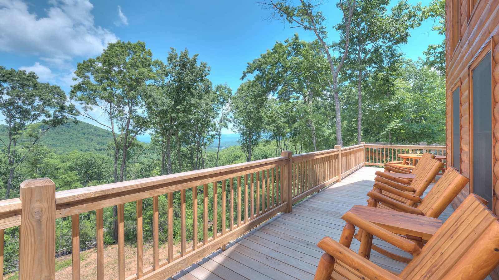 Echo lodge rental cabin blue ridge ga for Echo lake cabin rentals