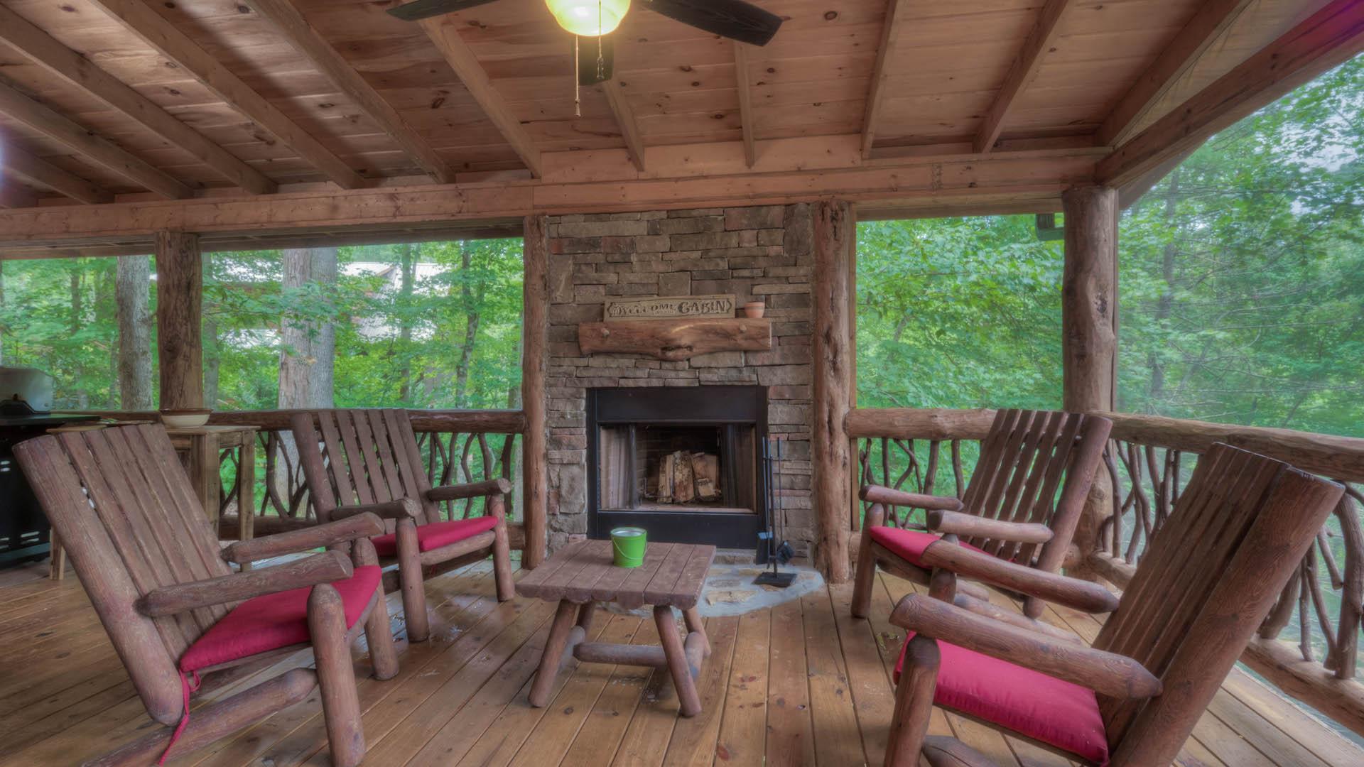 Fightingtown Creek Lodge Rental Cabin Blue Ridge Ga