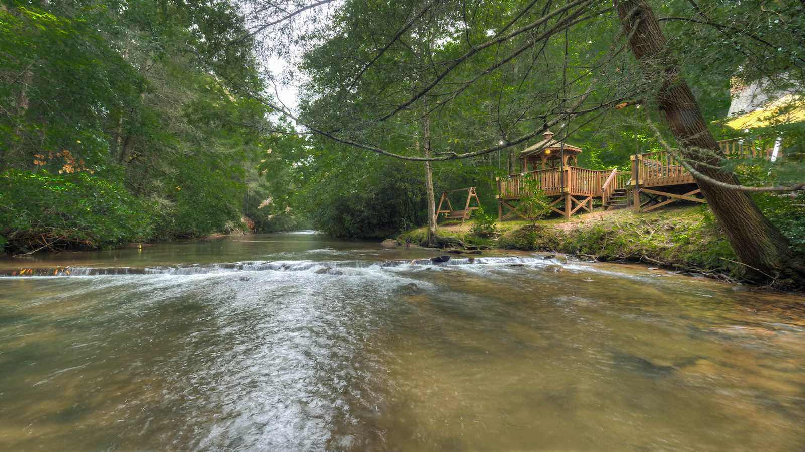 Rushing Waters Retreat Rental Cabin Blue Ridge Ga