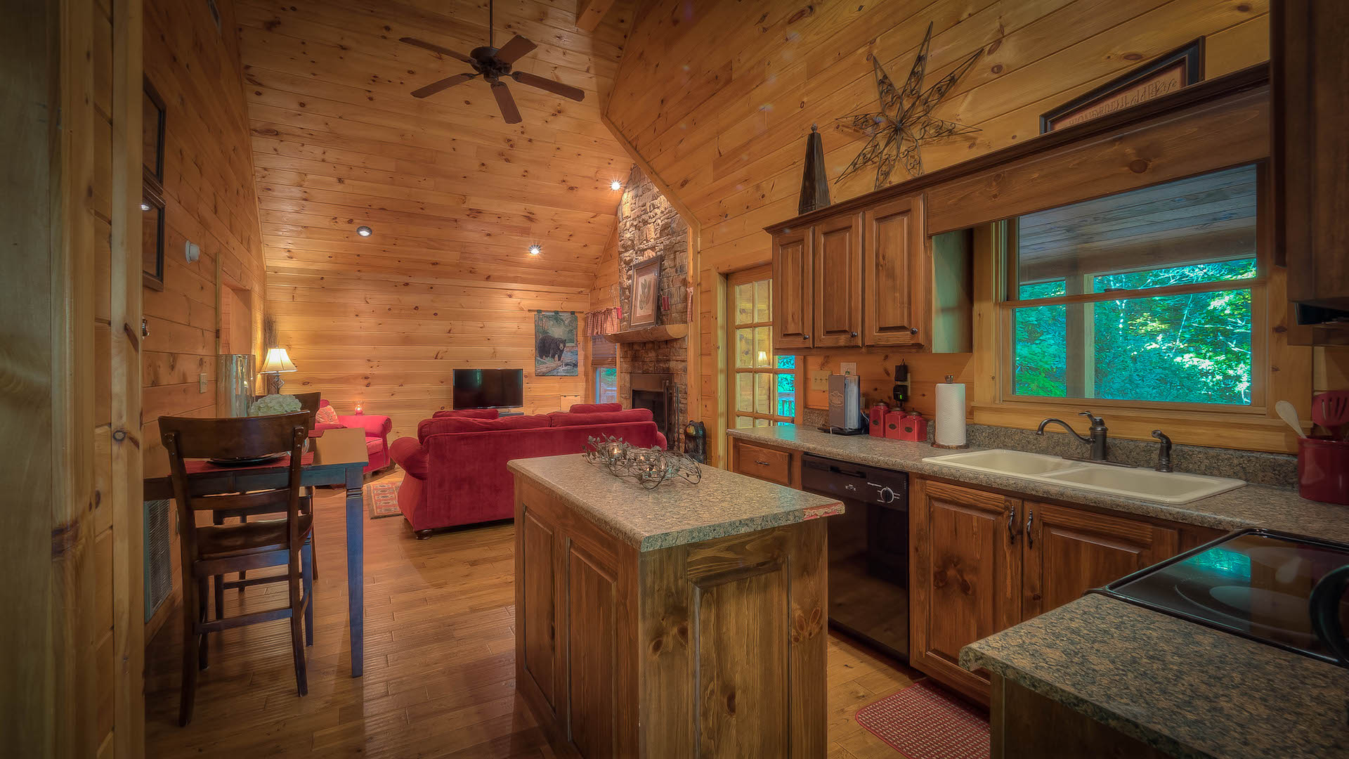 action cabin links rentals cabins romantic worries deep in no unit creek village vacation pa lake drive