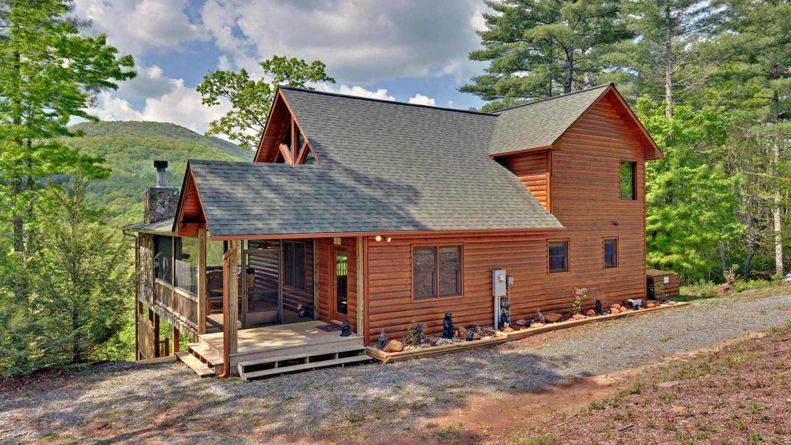 North georgia mountain cabin rentals for Large cabin rentals north georgia