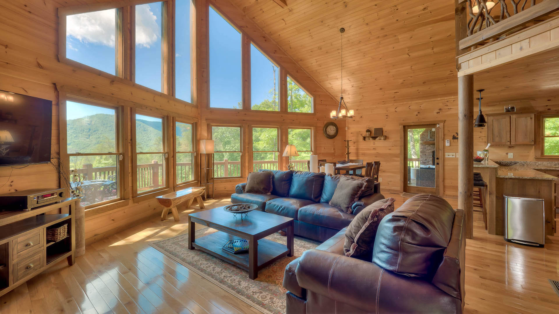 ridge cabins cabinrentalsmountains rentals blue mountain dream mountains lodge cabin views with