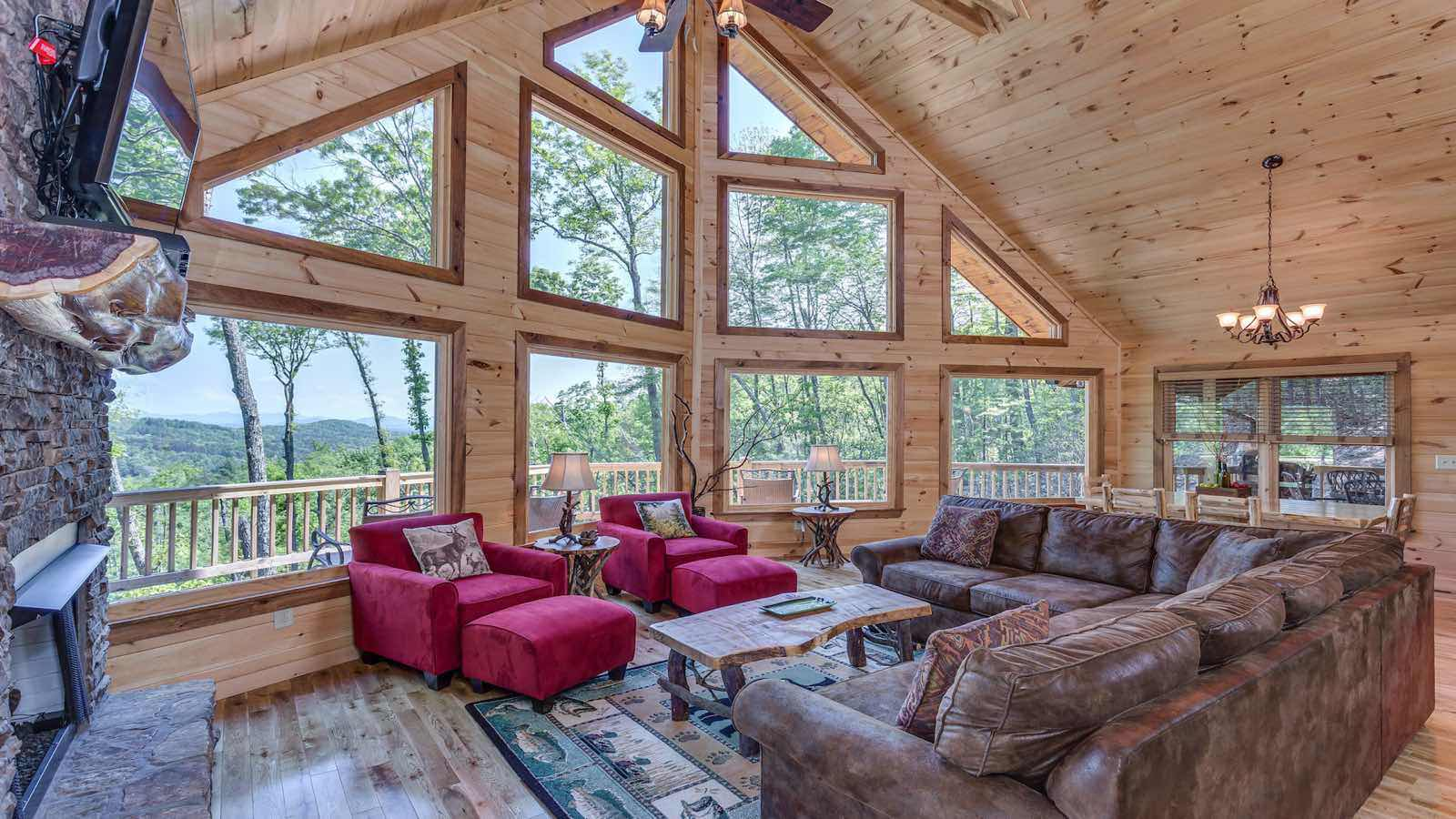 Attirant Mountain Top Serenity Cabin Rental
