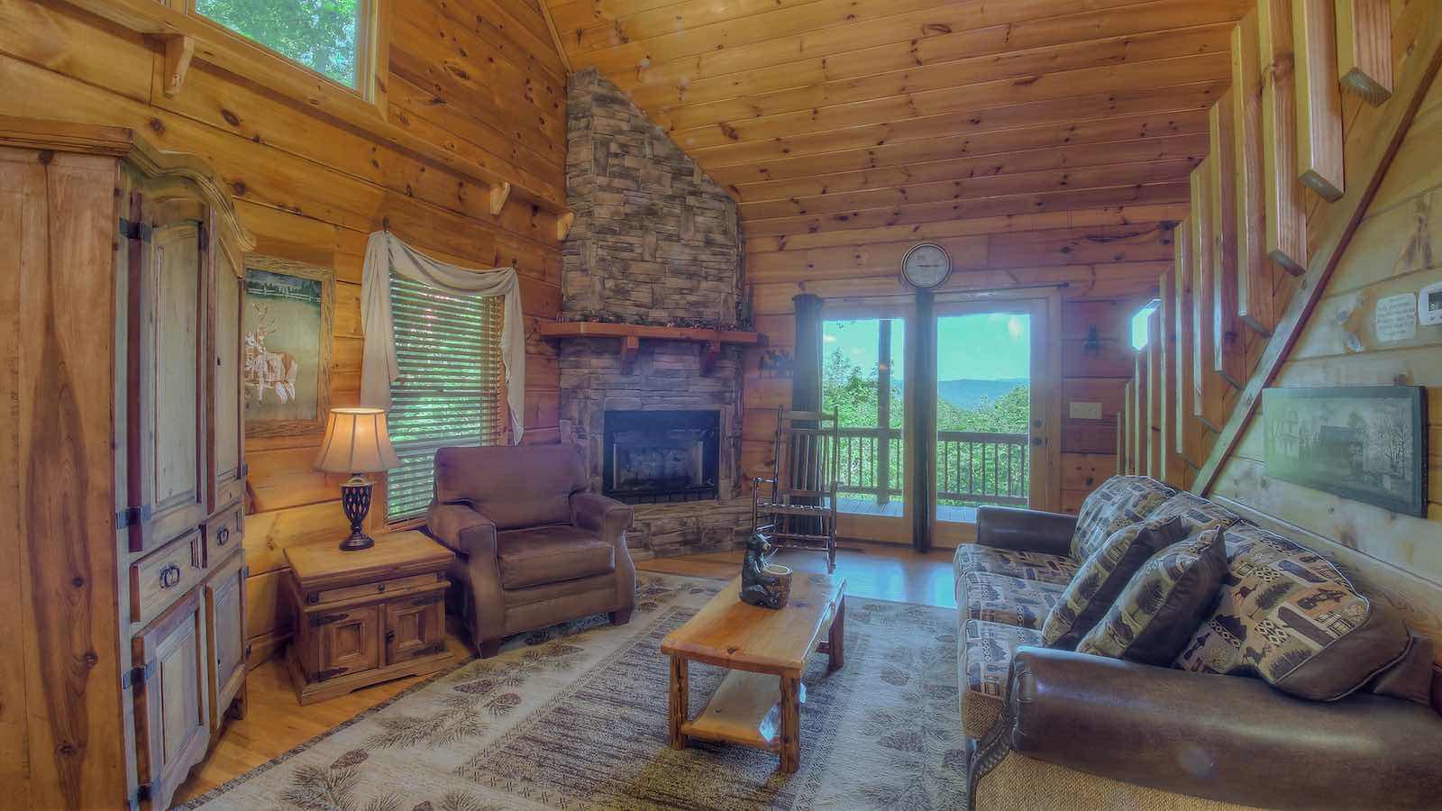 Timber Lodge Rental Cabin Blue Ridge Ga