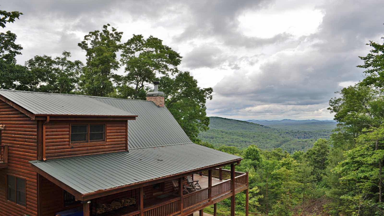 View from the top rental cabin blue ridge ga for Best place to rent a cabin