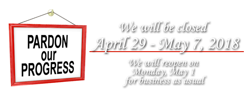 Closed April 29rd to May 7st