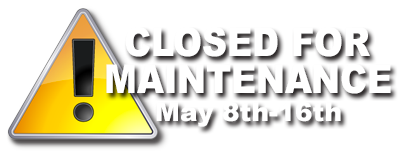 Closed May 8th - 16th 2016