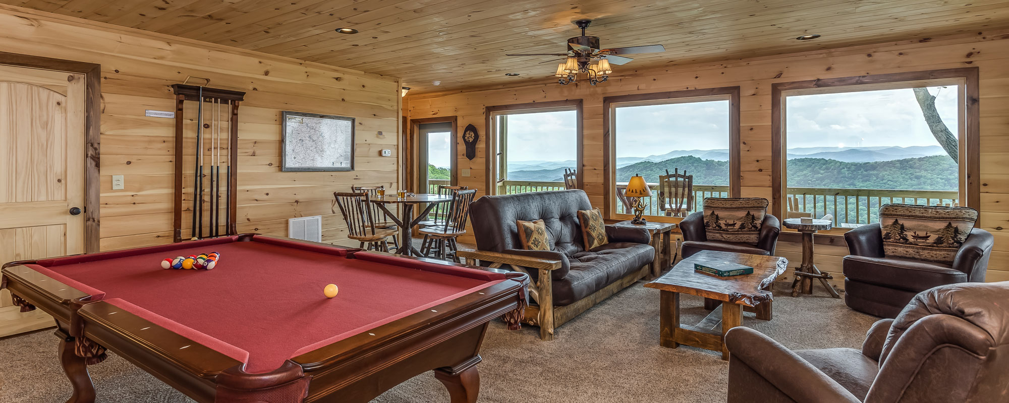 Luxury Cabin Rental Game Room ...