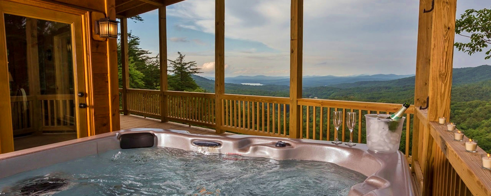 Luxury Cabin Rental Hot Tub