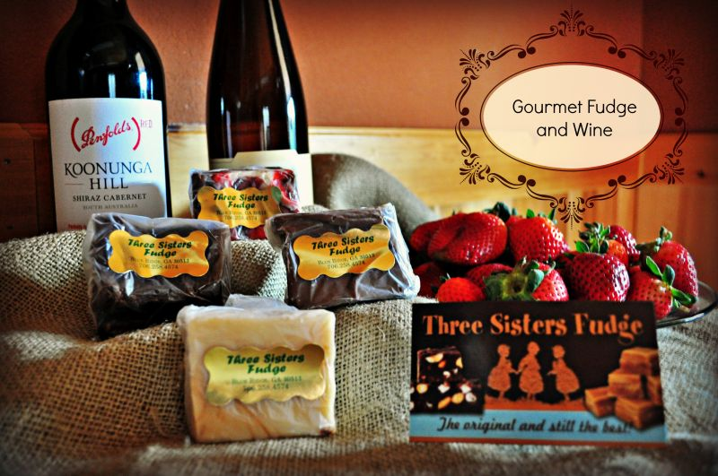 Gourmet Fudge and Wine Sampler